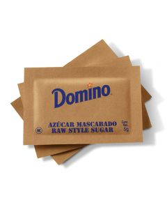 Azúcar Mascabado Raw Style Sugar - Caja con 2000 pzas Domino de 5g