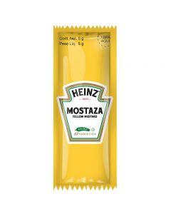 Mostaza premium Heinz Caja con 500 sobres de 5g