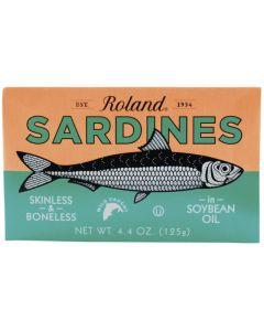 Sardines Skinless & Boneless in Soybean Oil 125g