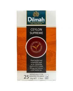 Ceylon Supreme Tea Dilmah Caja con 25 pzas