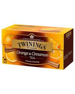 Té Orange & Cinnamon Twinings Caja con 25 pzas
