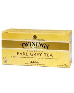 Té Earl Grey Twinings Caja con 25 pzas